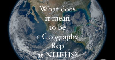 What does it mean to be a Geog Rep at NHEHS