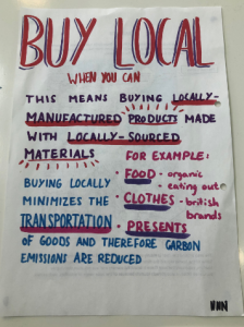 Buy local poster by Geog Reps