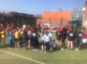 Start of NHEHS high 5 netball